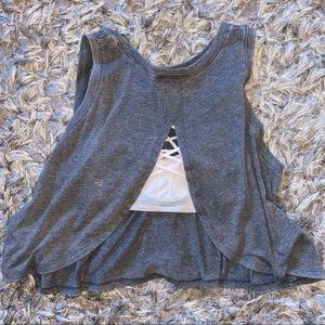 Forever 21 open back crop muscle tank size Medium